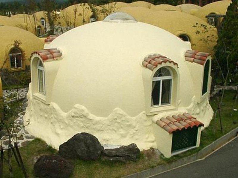 пенопластовый дом.
