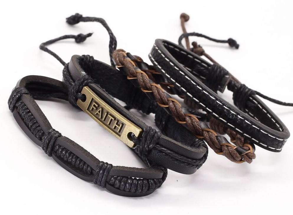 Фото мужские браслеты из натуральной кожи