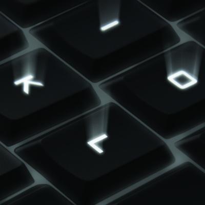 Клавиши с подсветкой и лазерной обработкой
