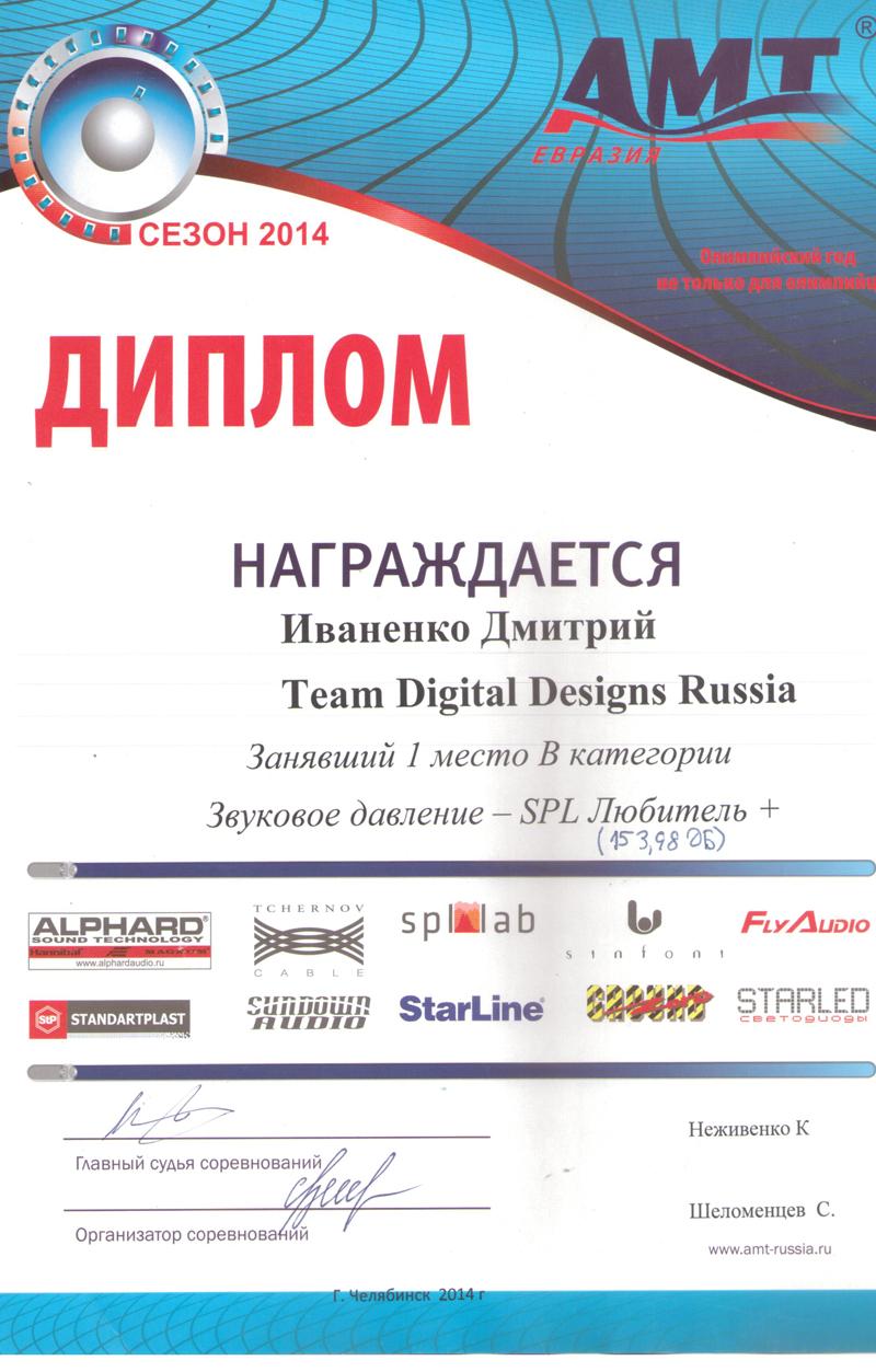 1 место АМТ Челябинск 2014г