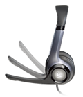 Гибкие наушники, поворачивающийся микрофон