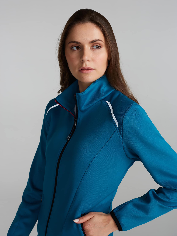 Спортивный костюм женский 14L-AS-1339 темно-бирюзовый