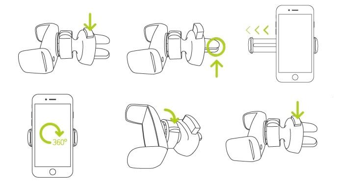 Onetto Easy One Handed Air Vent - Автомобильный держатель премиум-класса на воздуховод.