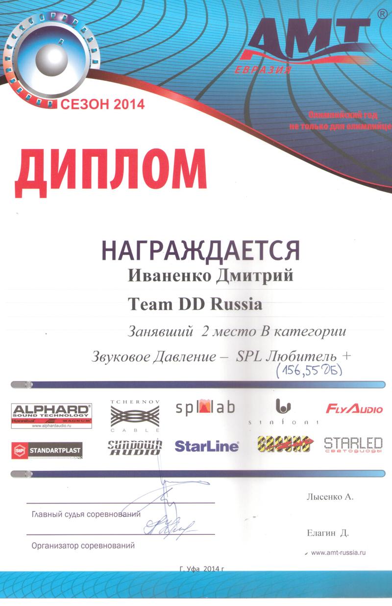2 место АМТ Уфа 2014г