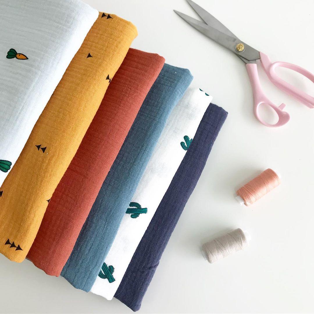 Ткань муслиновая для детских пеленок