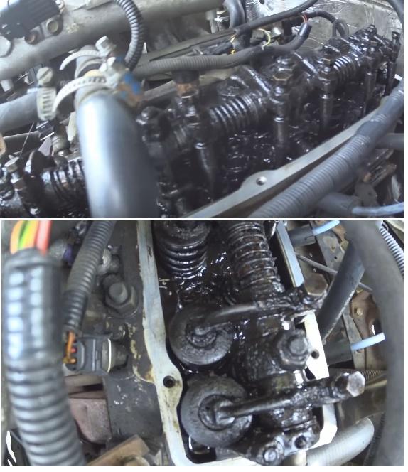 Шлак на деталях двигателя