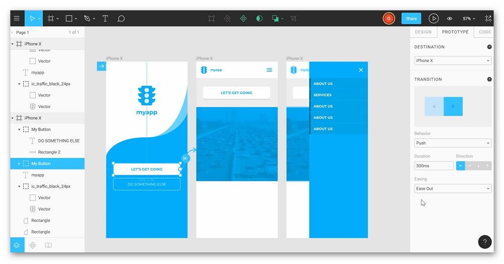 Пример интерактивного прототипа