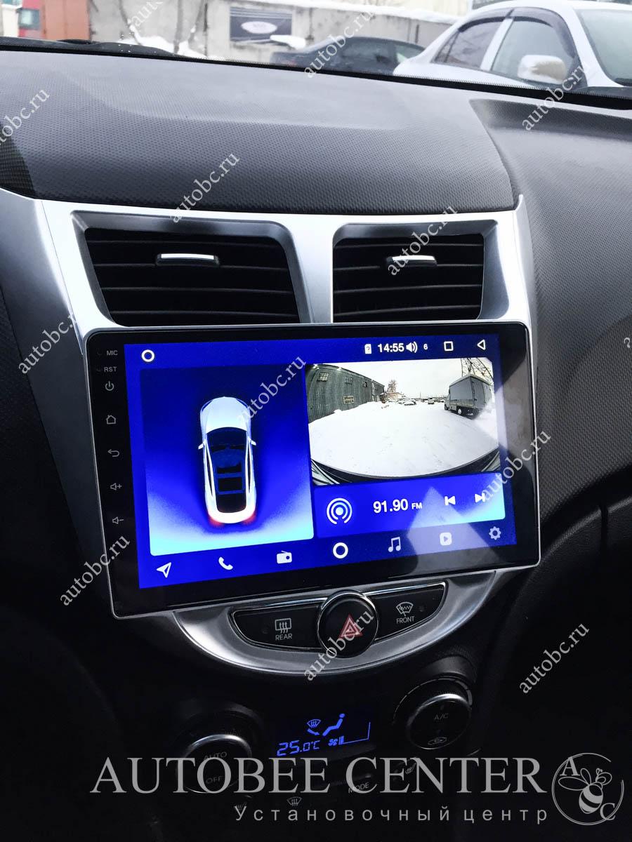 Hyundai Solaris (Магнитола и камера заднего вида)