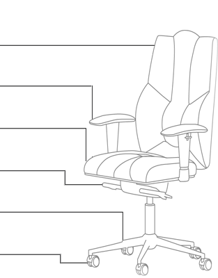 Функционал кресла KULIK SYSTEM BUSINESS