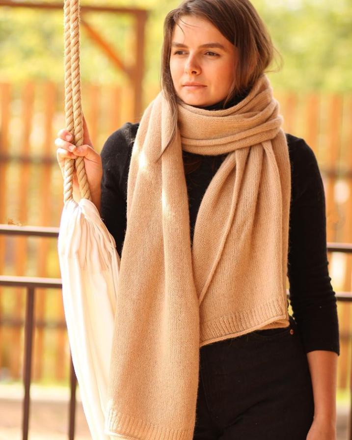 шарф из пряжи сарлаг