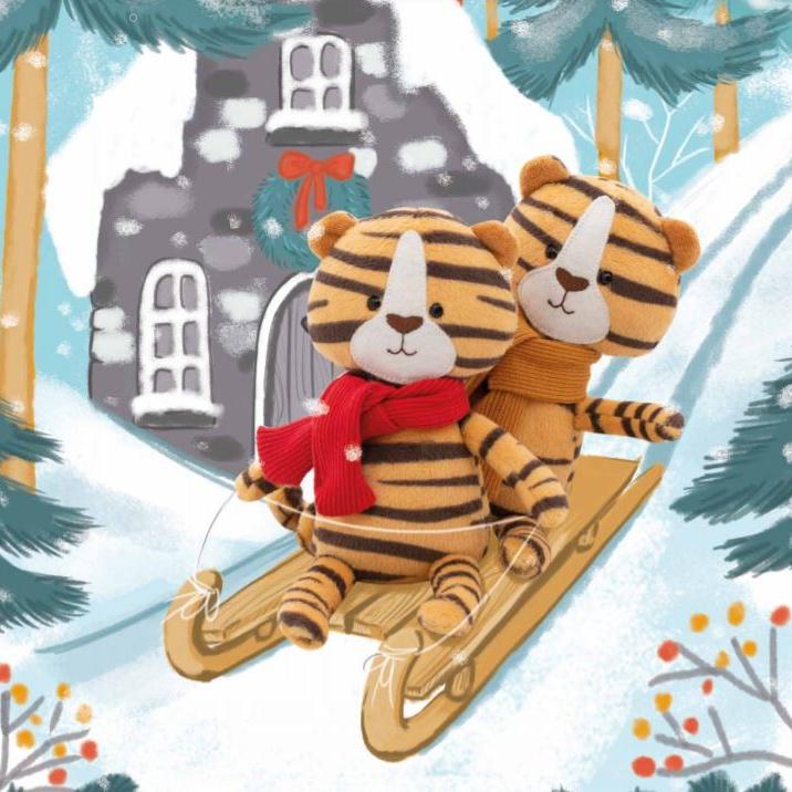 купить мягкие символы года тигры orange toys