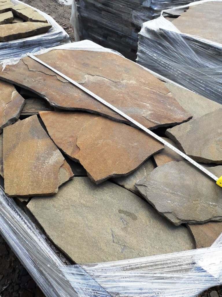Песчаник плитняк Хаки