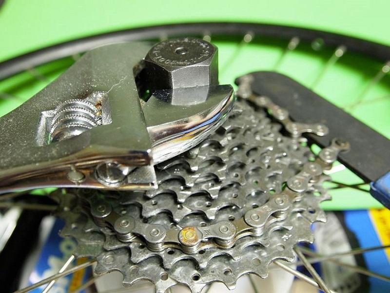 Снятие кассеты с барабана