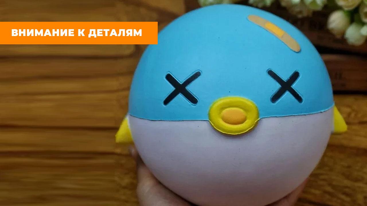 """Сквиш """"Большая летящая голубая рыба"""" (15 см)"""