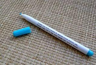 разметка фронта работ исчезающим маркером