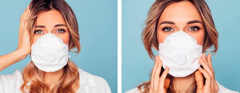 Уход за кожей лица при ношении маски