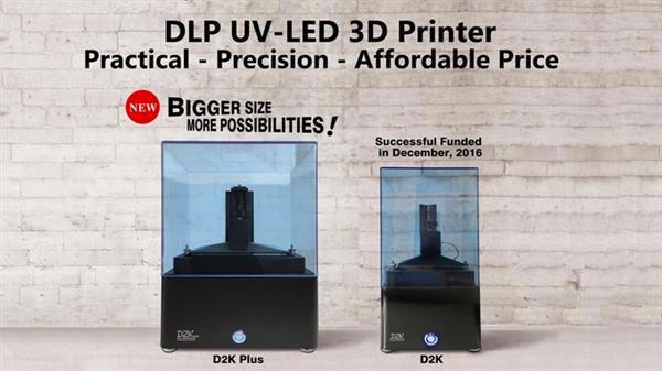 3D-принтер для смолы №1: D2K Plus