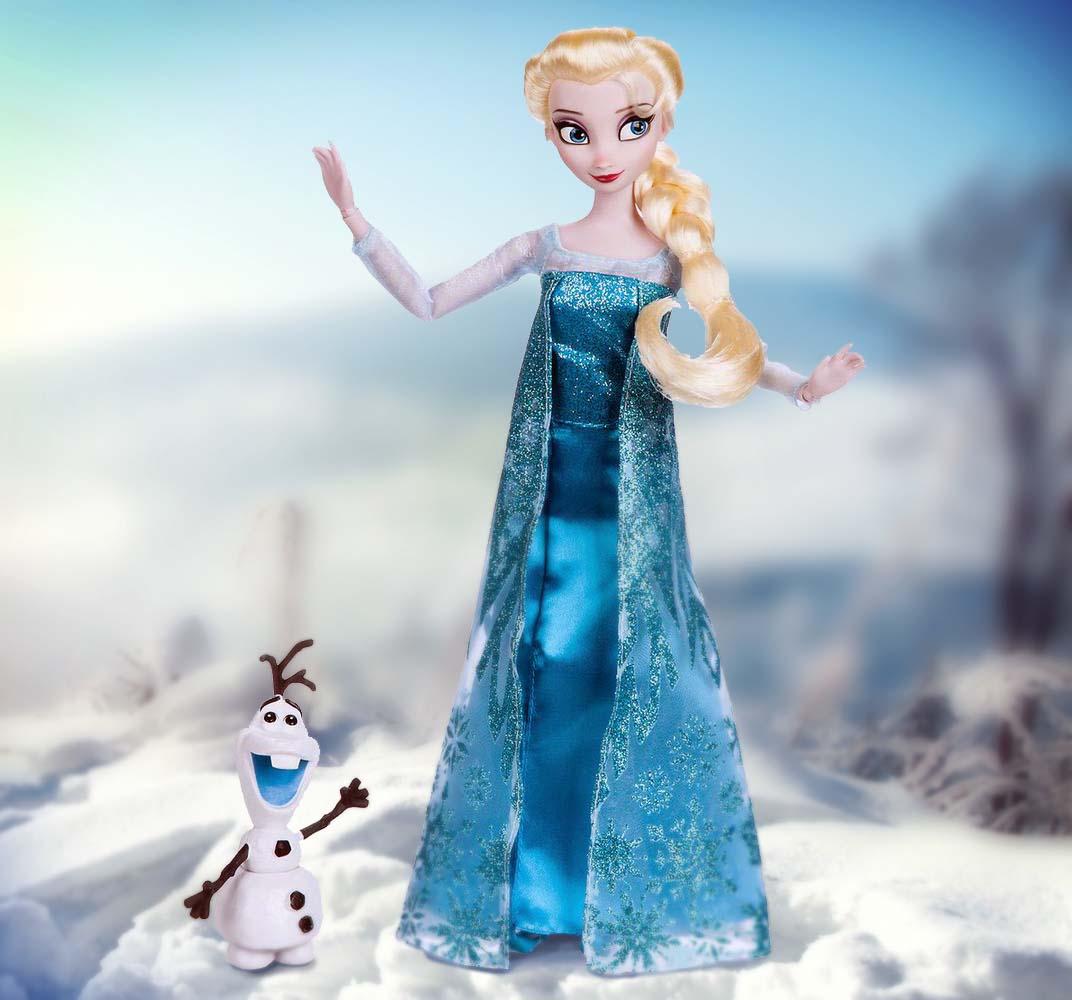 прекрасная куколка Эльза с питомцем Disney