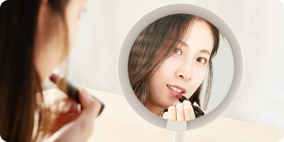 Зеркало для макияжа XY LED Touch Makeup Mirror (белый)