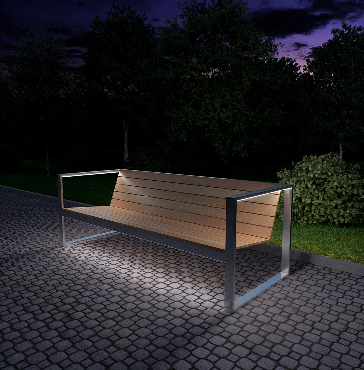садовая мебель из дерева и металла TRIF-MEBEL с led подсветкой