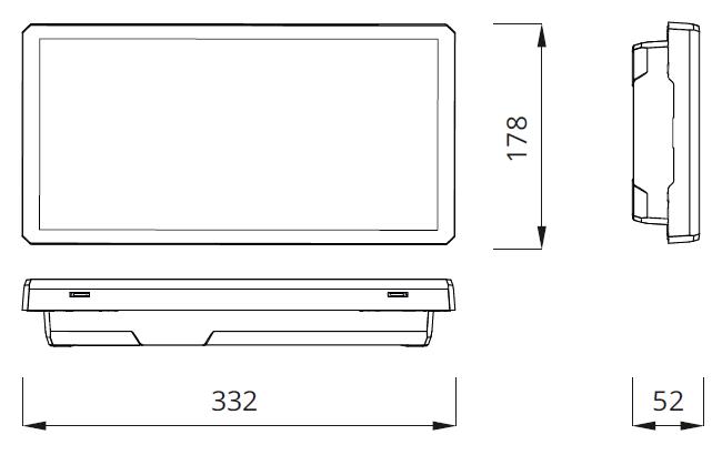 Размеры аварийного светодиодного светильника выход EXIT L