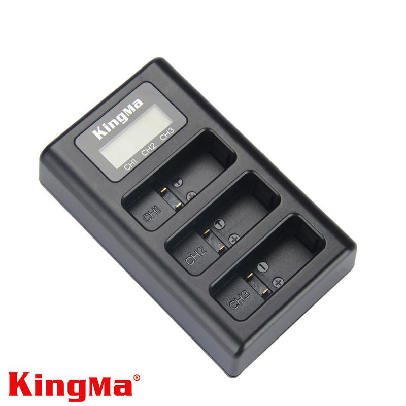 Зарядное устройство Kingma (USB) для 3-х аккумуляторов GoPro HERO5/HERO6/HERO7