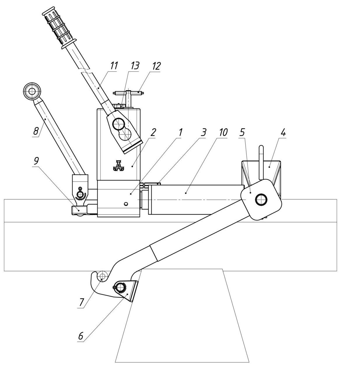 Шпалоперегонщик универсальный ШПГР-10 в режиме перегонки шпал