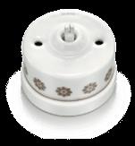 Fontini коллекция Garby белый цвет с коричневым узором