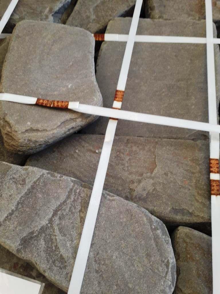 Бутовый цокольный камень серый