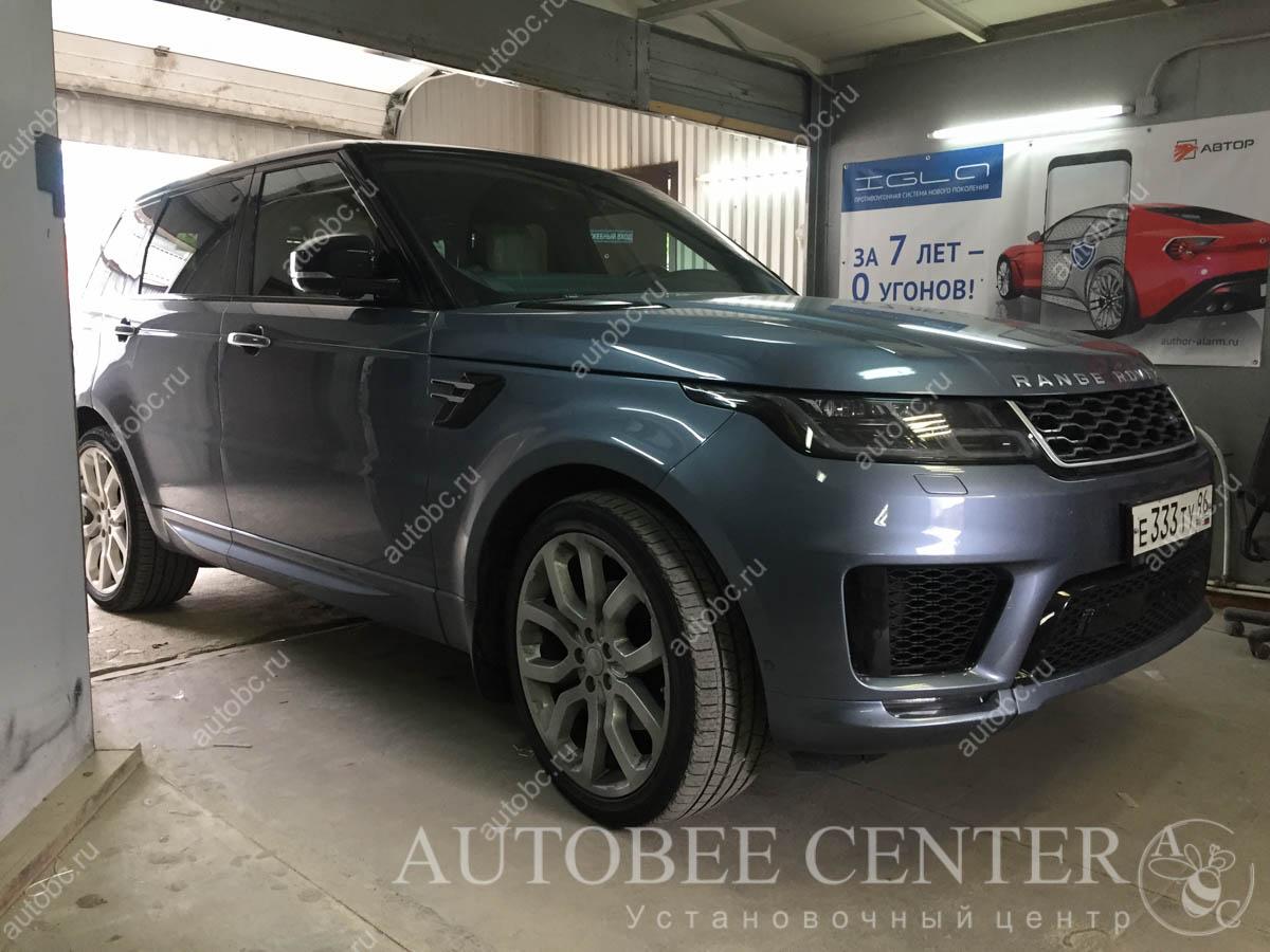 Range Rover Sport (установка разнесенного радар детектора)