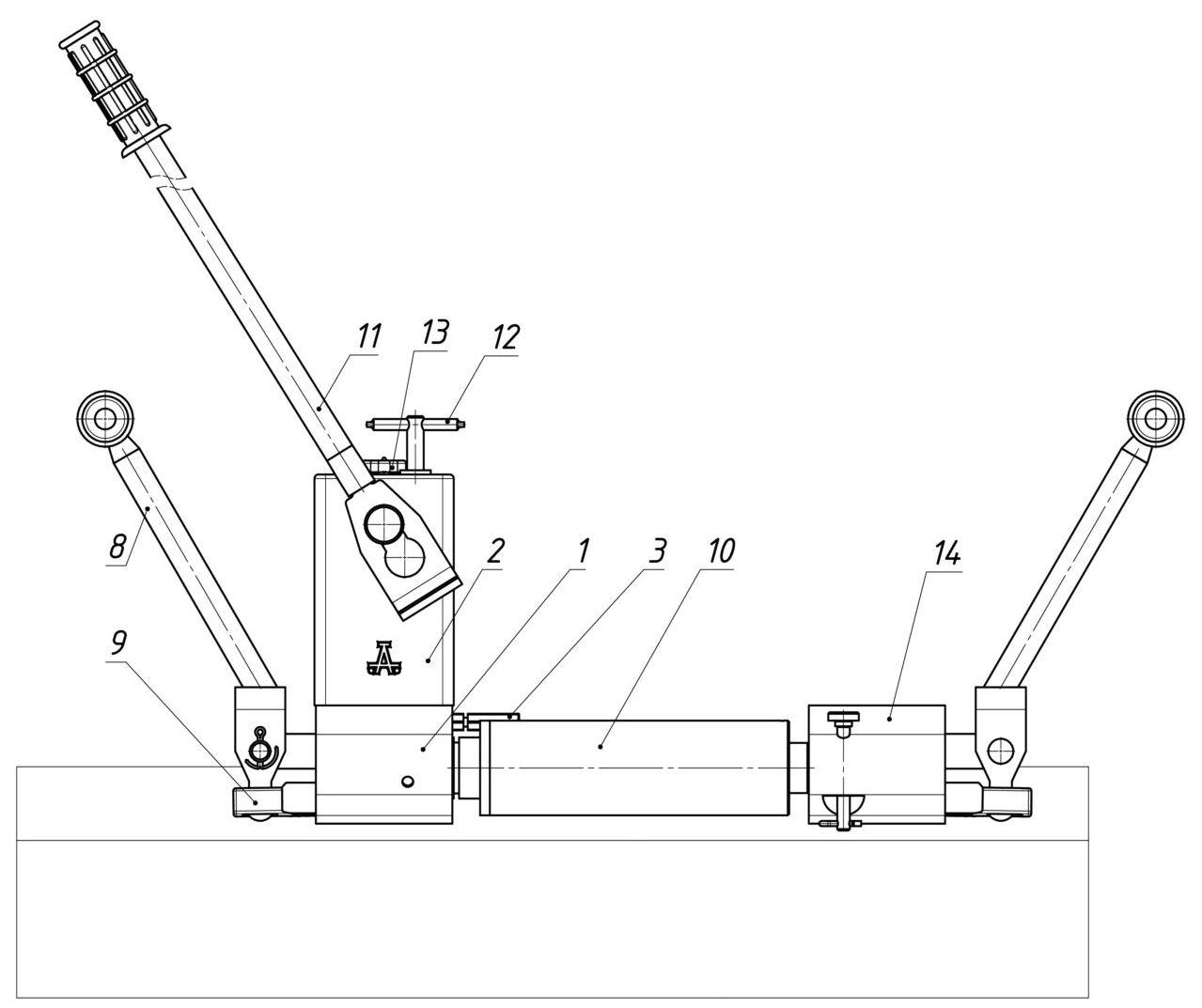 Шпалоперегонщик ШПГР-10 - сборка в режиме разгонщика стыковых зазоров.