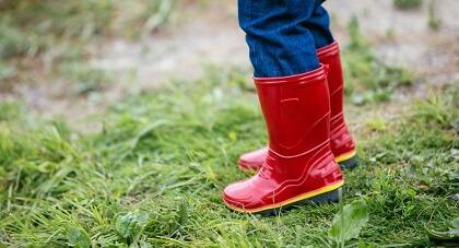 Детские резиновые сапоги Нордман Step красные