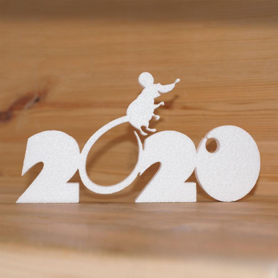 Надпись 2020 с мышью