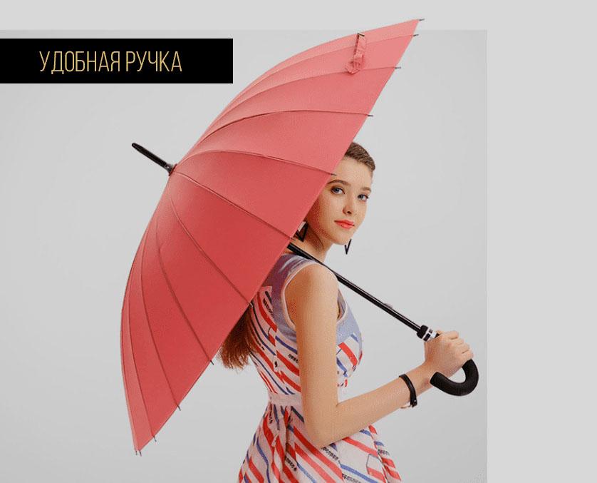 Синий зонт трость с проявляющимся рисунком | zc pelaratti design