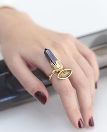 кольцо с унакитом и сугилитом Surrea  Isi Ring от MAVA HAZE