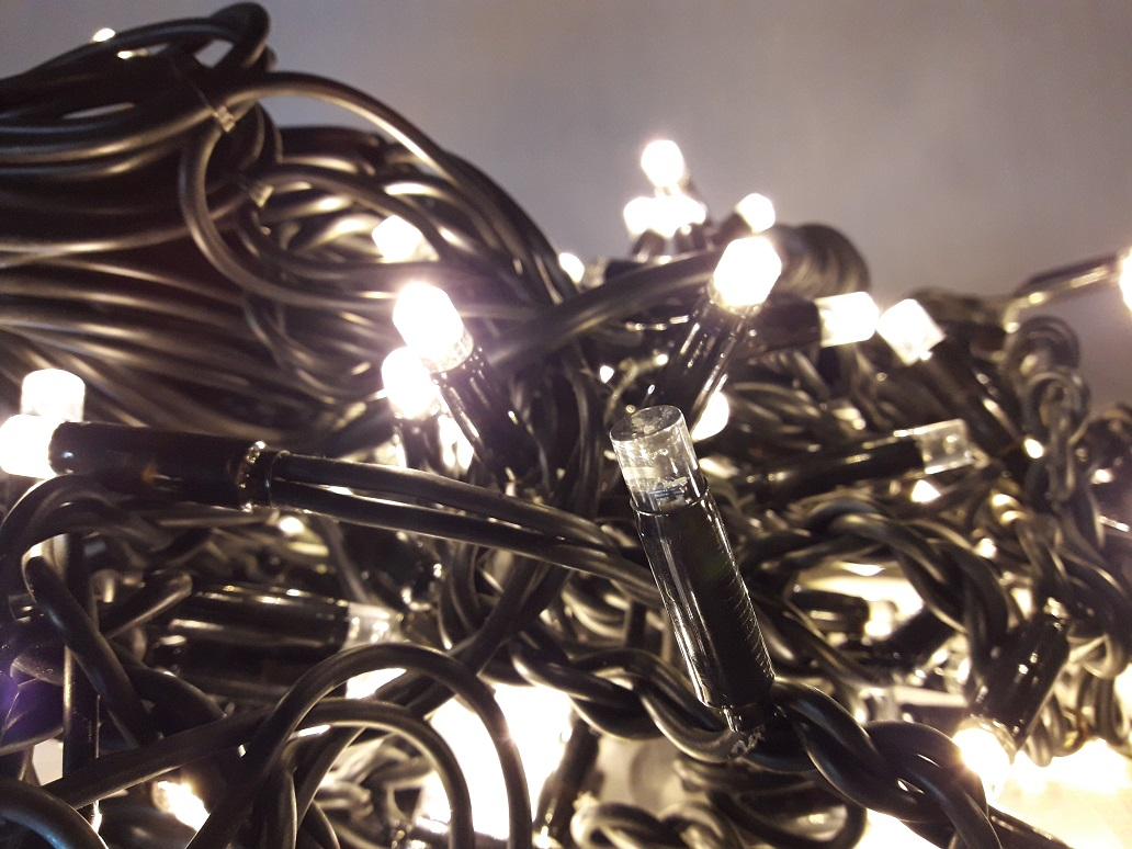 LED гирлянда нить полный флешь с полным мерцанием 10 метров