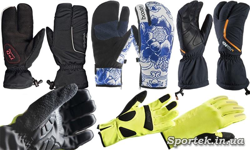 3-х, 4-х и 5-ти палые велосипедные перчатки