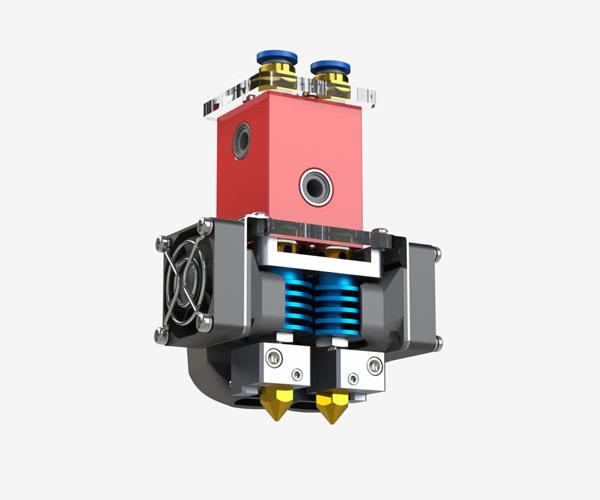Двойной экструдер, запатентованный компанией Creatbot