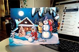 Готовая работа папертоль Зимние каникулы.