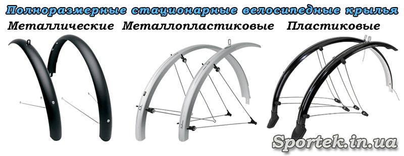 Полноразмерные стационарные крылья на велосипед