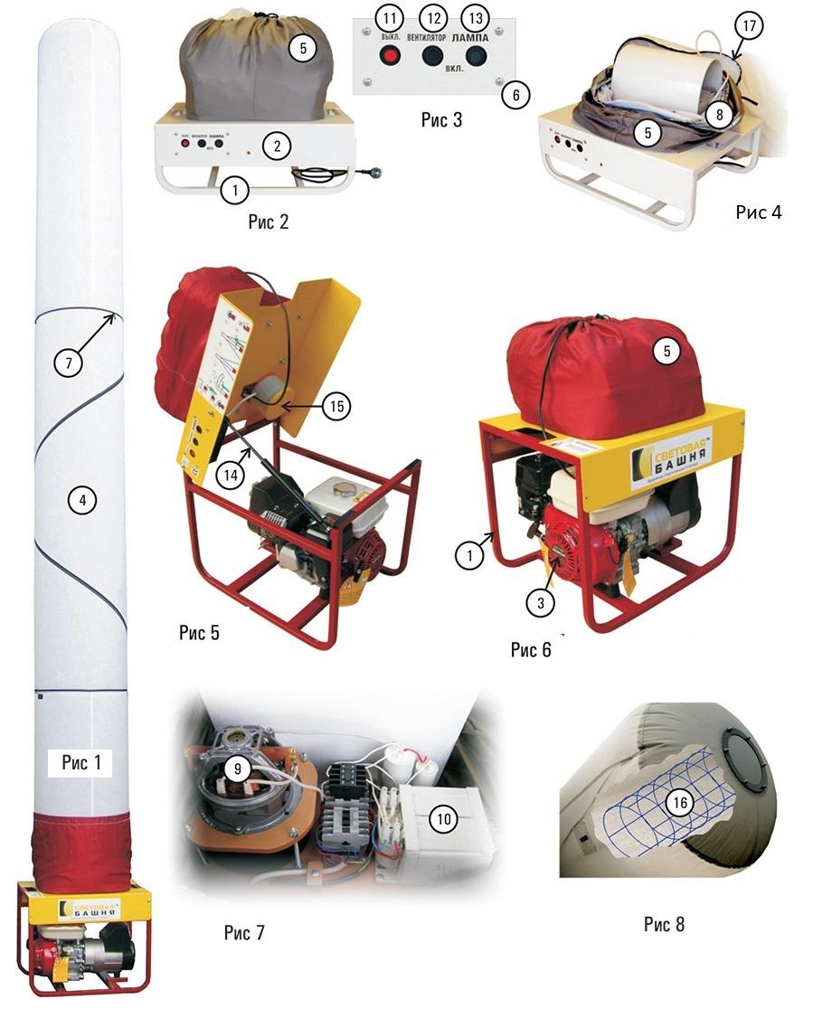 схема световой башни