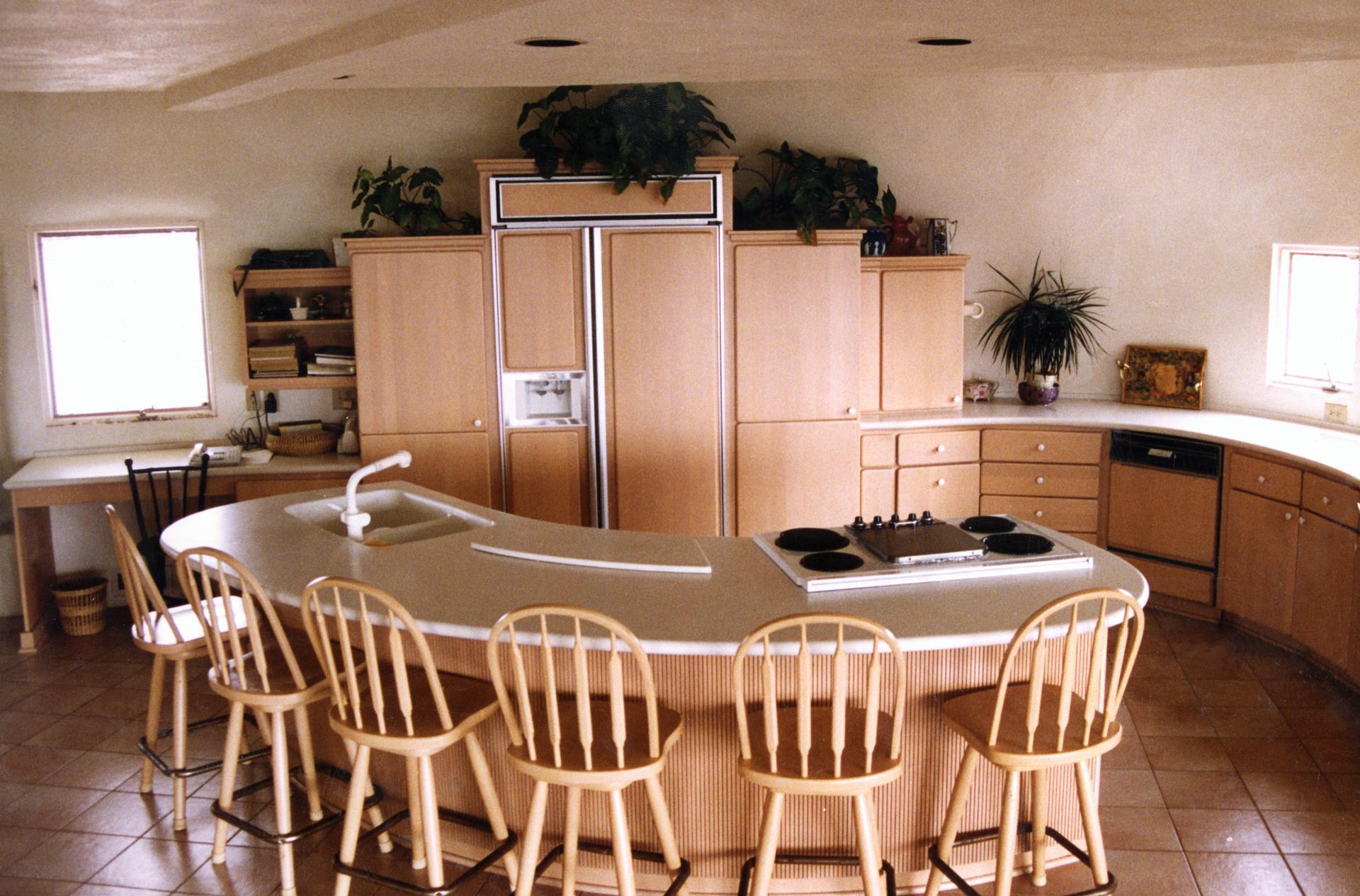 кухня в купольном доме
