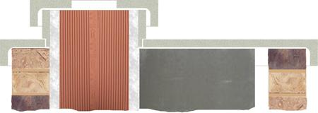 комплект покровных плит для керамических дымоходов Effe2.