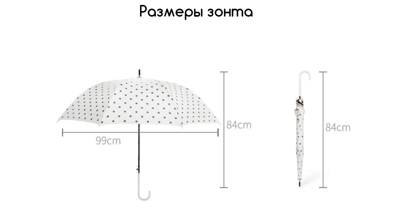 Зонт трость белый с черной клеткой