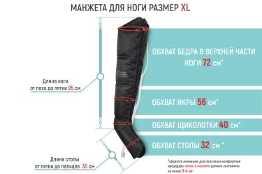 Как подобрать размер манжет для ног?