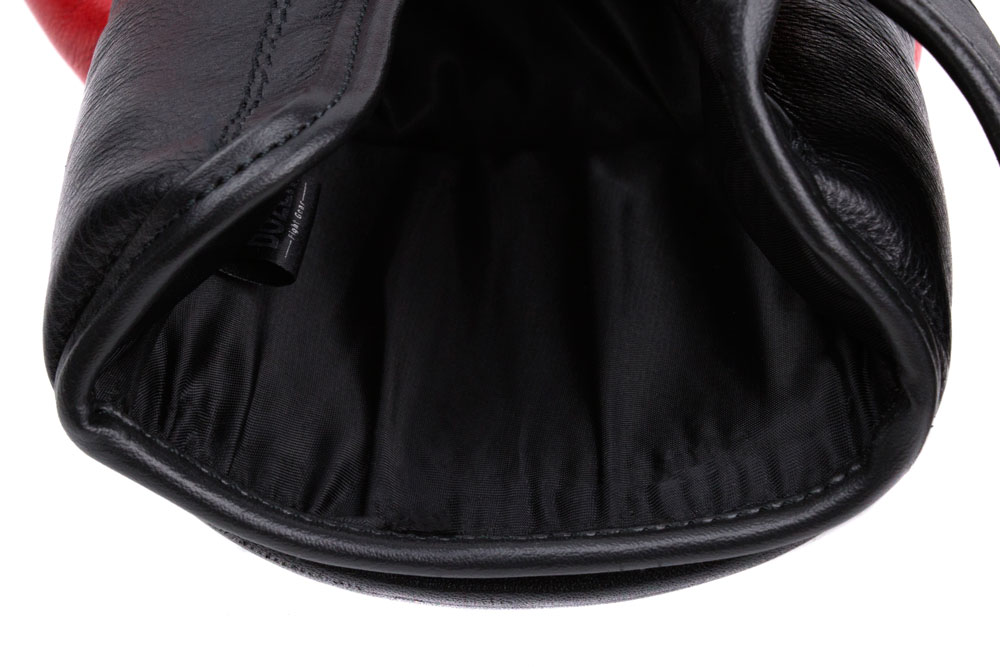 Подкладка красно-черных боксёрских перчаток Dozen Dual Impact