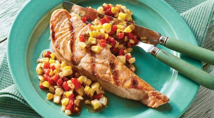приготовления рыбного стейка на гриле