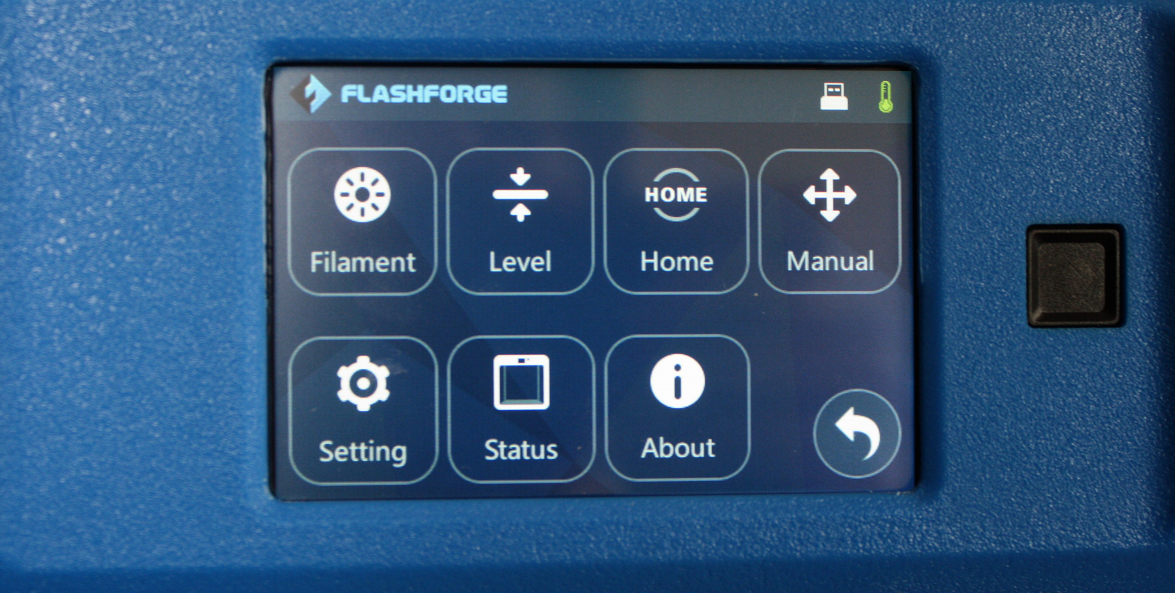 flashforge inventor II экран