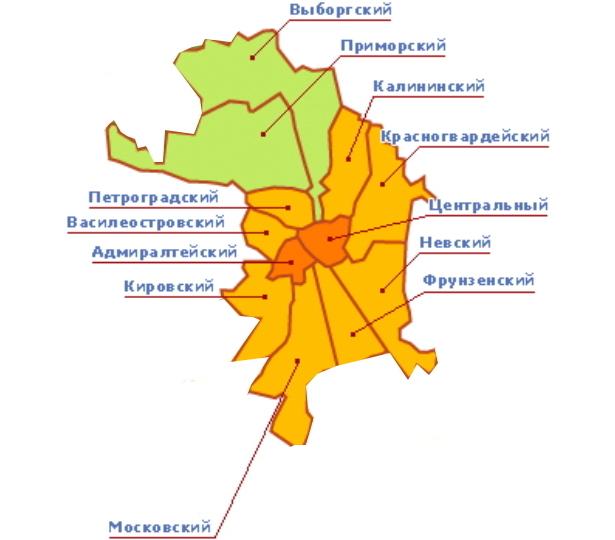 Районы Доставки