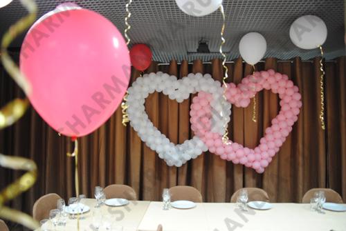 двойное сердце из шаров фото